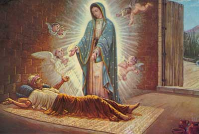 Juan Diego's uncle healed by Our Lady of Guadalupe