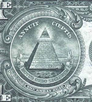 The pyramid on the American one dollar bill