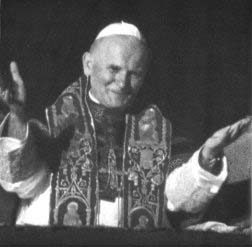 John Paul II appears on the balcony