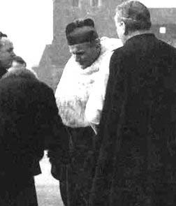 Karol Wojtyla Wearing the damask chasuble of Queen Anna Jaggelon