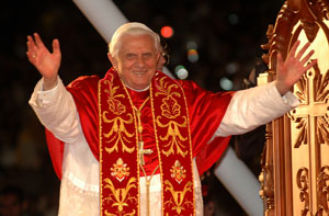 Benedict XVI at Pacaembu stadium