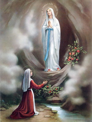 Image result for our lady of lourdes pictures
