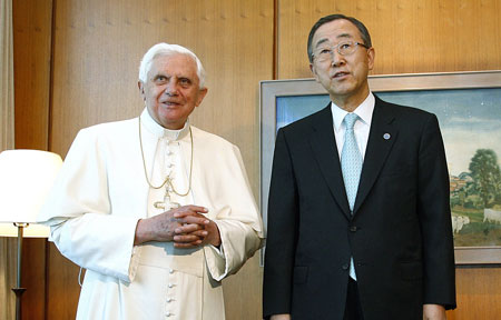 Benedict XVI with Ban Ki-Moon