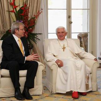 Prime Minister Kevin Rudd with Benedict XVI