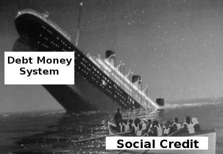 Debt money system sinking