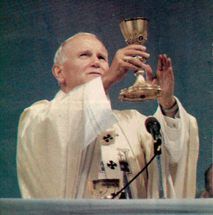 John Paul II celebrating Mass in Quebec City