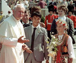 John Paul II arrival in Quebec city