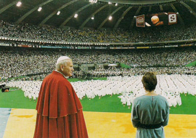 John Paul II at Montreal Olympic Stadium