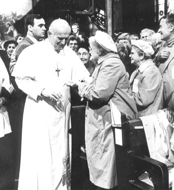 John Paul II Talking to Pilgrims of St. Michael