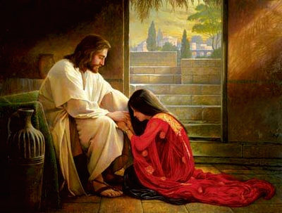 Jesus forgiving Mary Magdalen