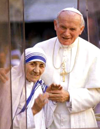 Mother Teresa and John Paul II