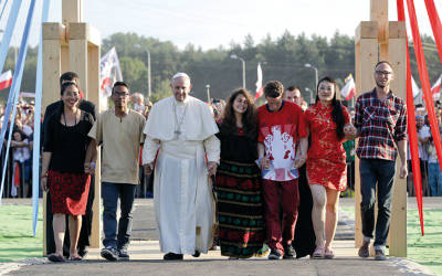 Pope Francis World Youth Day in Krakow on July 30, 2016