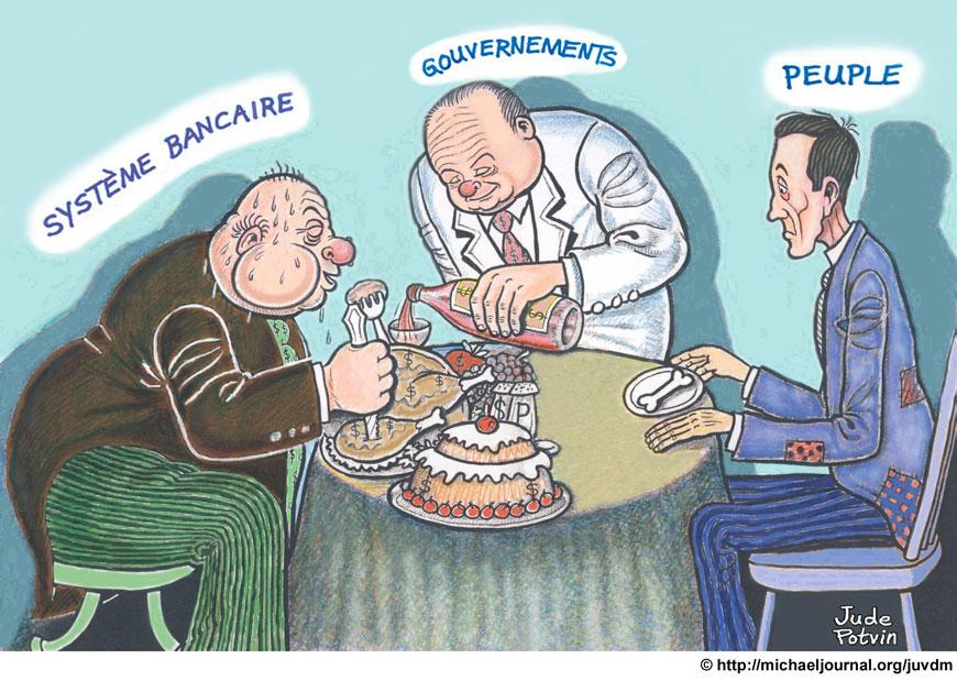 Caricature système banquaire