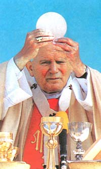 John Paul II Consecration of the Host