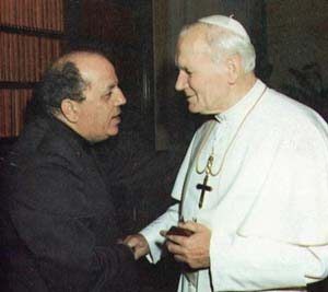 Father Gobbi with Pope John Paul II