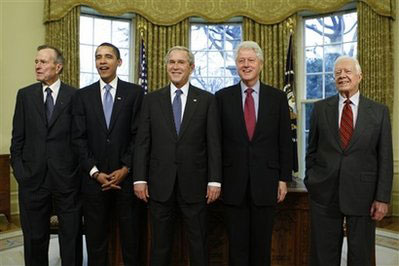 The five last U.S. presidents
