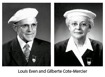 Louis Even and Gilberte Cote-Mercier