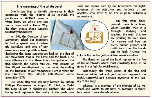 Meaning of the white beret
