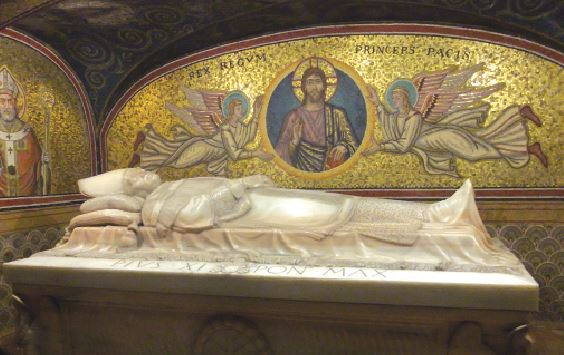 The tomb of Pope Pius XI