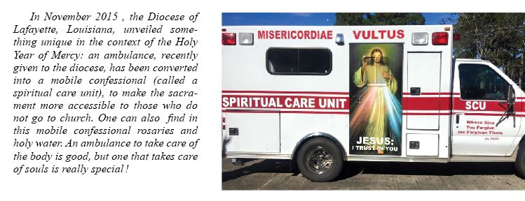 Ambulance for spiritual care