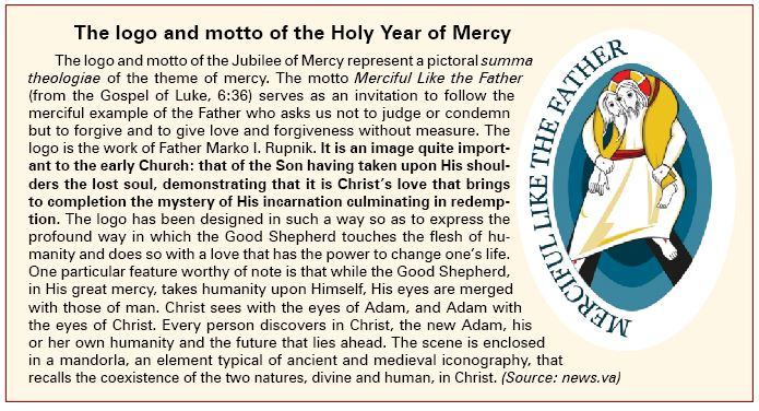 The logo of the Holy Year of Mercy
