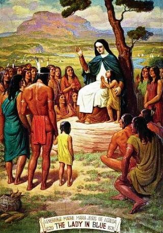 Maria of Agreda teaching the Indians