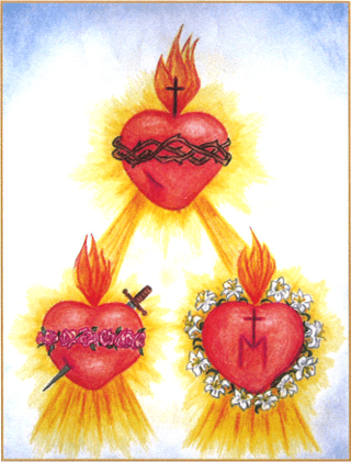 The Three Sacred Hearts