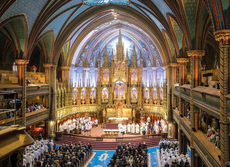 Mass of Montreal's 375th at the basilica