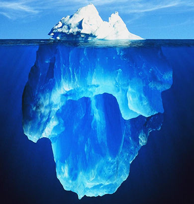 the peak of the iceberg